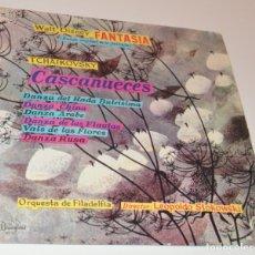 Discos de vinilo: FANTASÍA - LEOPOLD STOKOWSKI - DISNEYLAND - 6 TEMAS DEL CASCANUECES - HISPAVOX. Lote 173538400