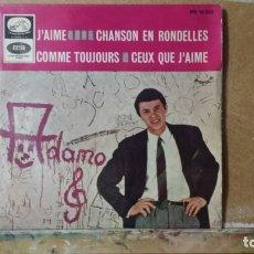 Discos de vinilo: ** ADAMO - J'AIME / CHANSON EN RONDELLES + 2 - EP AÑO 1965 - LEER DESCRIPCIÓN. Lote 173548217