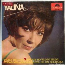 Disques de vinyle: YALINA / CARTA DE UN SOLDADO + 3 (EP 1966). Lote 173549028