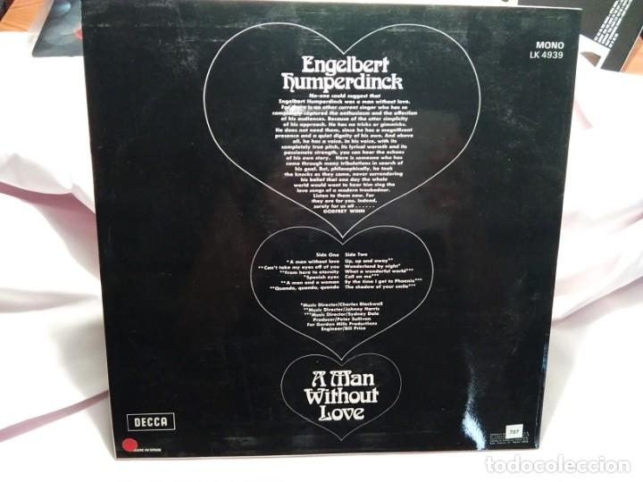 Discos de vinilo: LP – ENGELBERT HUMPERDINCK – A MAN WITHOUT LOVE - Foto 2 - 173559803