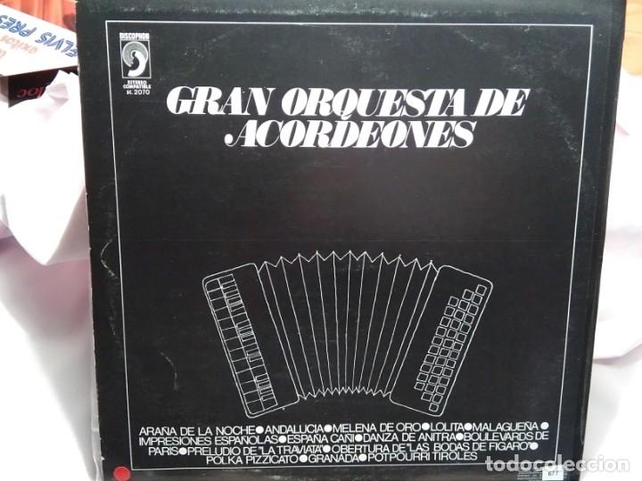 Discos de vinilo: LP – GRAN ORQUESTA DE ACORDEONES - Foto 2 - 173561085