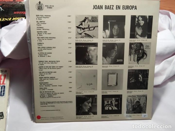Discos de vinilo: LP – JOAN BAEZ EN EUROPA - Foto 2 - 173561347