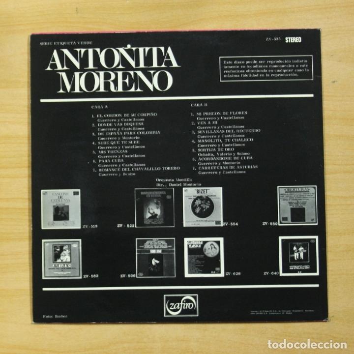 Discos de vinilo: ANTOÑITA MORENO - ANTOÑITA MORENO - LP - Foto 2 - 173563728