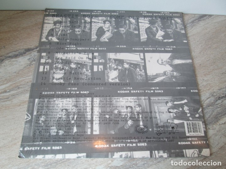 Discos de vinilo: BEASTIE BOYS. SOME OLD BULLSHIT. LP VINILO. NUEVO SIN DESPRECINTAR. 1994.GRAND ROYAL REORDS - Foto 4 - 173564208