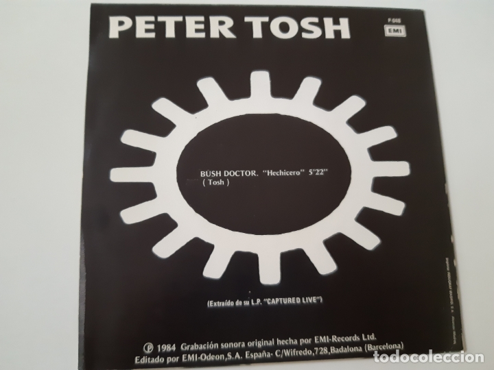 Discos de vinilo: PETER TOSH- BUSH DOCTOR - SPAIN PROMO SINGLE 1984 - COMO NUEVO. - Foto 2 - 173565127