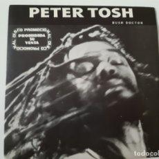 Discos de vinilo: PETER TOSH- BUSH DOCTOR - SPAIN PROMO SINGLE 1984 - COMO NUEVO.. Lote 173565127