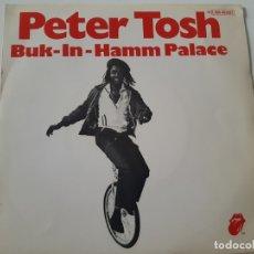 Discos de vinilo: PETER TOSH- BUCK-IN-HAMM PALACE - SPAIN SINGLE 1979 - VINILO COMO NUEVO.. Lote 173565695