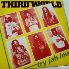 Discos de vinilo: THIRD WORLD- TRY JAH LOVE - SPAIN PROMO SINGLE 1982 - VINILO COMO NUEVO.. Lote 173565930