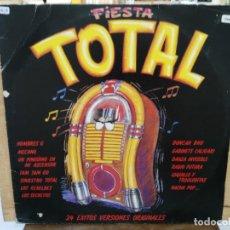 Discos de vinilo: FIESTA TOTAL (RECOPILATORIO) - HOMBRE G, MECANO, NACHA POP... - DOBLE LP. DEL SELLO TWINS 1988. Lote 173568073