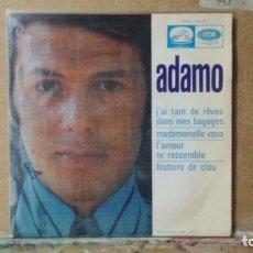 Discos de vinilo: ** ADAMO - J'AI TANT DE RÊVES DANS MES BAGAGES + 3 - EP 1968 - LEER DESCRIPCIÓN. Lote 173569777