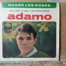 Discos de vinilo: ** ADAMO - QUAND LES ROSES / VOUS PERMETTEZ MONSIEUR? + 2 - EP AÑO 1964 - LEER DESCRIPCIÓN. Lote 173570682