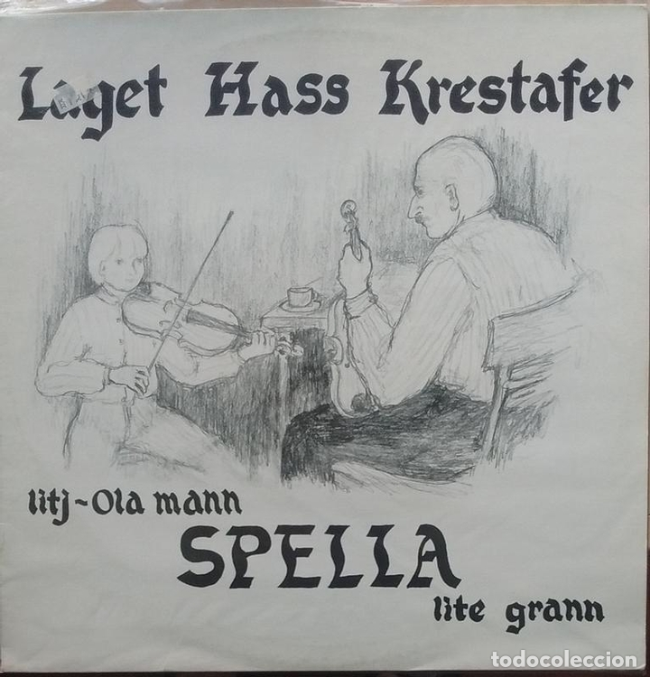 LAGET HASS KRESTAFER - LITJ-OLA MANN SPELLA LITE GRANN ? - 1982 - LP - NORUEGA (Música - Discos - LP Vinilo - Cantautores Extranjeros)