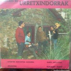Discos de vinilo: BERGARAKO URRETXINDORRAK - AITOREN HIZKUNTZA ZAHARRA / ANUSHTKA / GURE ARDATZIK +1 -1968 EP EUSKERA. Lote 173573508