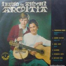 Discos de vinilo: IRUNE TA ANDONI ARGOITIA - TXORIBURUAK SOKAN / GAURKO GAZTEAK / AMES AMES +3 - 1967 - EP - EUSKERA. Lote 173573624