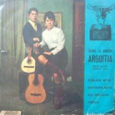 Discos de vinilo: IRUNE TA ANDONI ARGOITIA - EUSKALHERRI MAITEA / HUMETXOAREN AMESAK +2 - 1968 - EP - EUSKERA. Lote 173573629