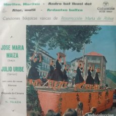 Discos de vinilo: JULIO URIBE ETA JOSE MARIA MAIZA - MARITXU MARITXU / ANDRE BAT IKUSI DET +2 - 1961 - EP - EUSKERA. Lote 173573654