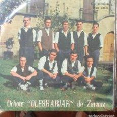 Discos de vinilo: OLESKARIAK DE ZARAUZ, OCHOTE - GARIZUMA LUZERICK / USO TXURIA / TXAKOLIN +1 - 1964 - EP - EUSKERA. Lote 173573699