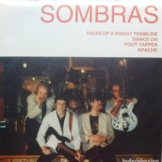 Discos de vinilo: SOMBRAS - TALES OF A RAGGY TRAMLINE / DANCE ON / FOOT TAPPER / APACHE - 1997 - EP. Lote 173573799
