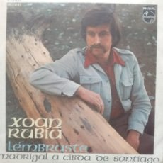 Discos de vinilo: XOAN RUBIA - LEMBRASTE / MADRIGAL Á CIBDA DE SANTIAGO - 1972 - SINGLE - GALEGO. Lote 173573879