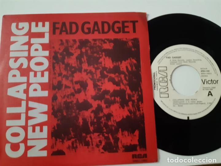 Discos de vinilo: FAD GADGET - COLLAPSING NEW PEOPLE- SPAIN PROMO SINGLE 1984 - COMO NUEVO. - Foto 3 - 173575412
