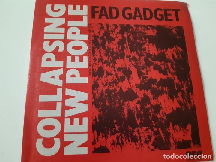 FAD GADGET - COLLAPSING NEW PEOPLE- SPAIN PROMO SINGLE 1984 - COMO NUEVO. (Música - Discos - Singles Vinilo - Electrónica, Avantgarde y Experimental)