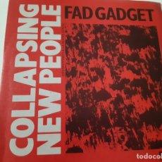 Discos de vinilo: FAD GADGET - COLLAPSING NEW PEOPLE- SPAIN PROMO SINGLE 1984 - COMO NUEVO.. Lote 173575412