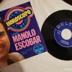 Discos de vinilo: DISCO MANOLO ESCOBAR PUBLICIDAD GALLINA BLANCA. Lote 173579317