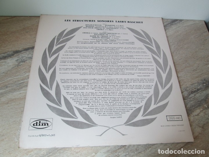 Discos de vinilo: LASRY BASCHET. STRUCTURES SONORES. LP VINILO. DIM RECORDS 1968. VER FOTOGRAFIAS ADJUNTAD - Foto 9 - 173580902