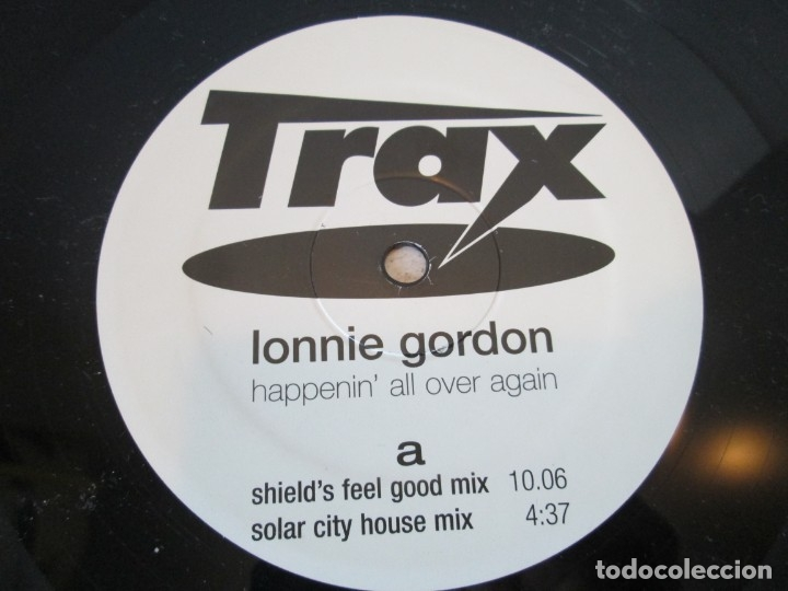 Discos de vinilo: LONNIE GORDON. HAPPENIN´ALL OVER AGAIN.MAXI SINGLE VINILO. TRAX RECORDING 1998. - Foto 4 - 173581639