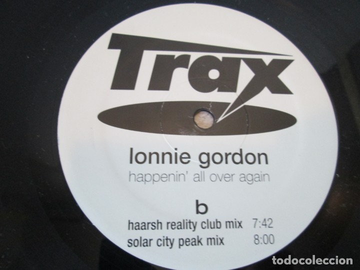 Discos de vinilo: LONNIE GORDON. HAPPENIN´ALL OVER AGAIN.MAXI SINGLE VINILO. TRAX RECORDING 1998. - Foto 6 - 173581639