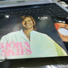 Discos de vinilo: BJORN SKIFS SINGLE LADY ESPAÑA 1977. Lote 173588012