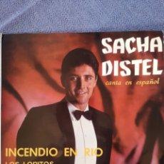 Discos de vinilo: SACHA DISTEL INCENDIO EN RIO. Lote 173588564