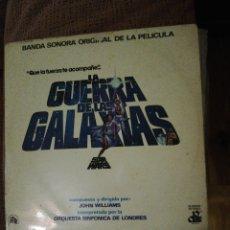 Discos de vinilo: BSO LA GUERRA DE LAS GALAXIAS DEPOSITO LEGAL 1977. Lote 173591045