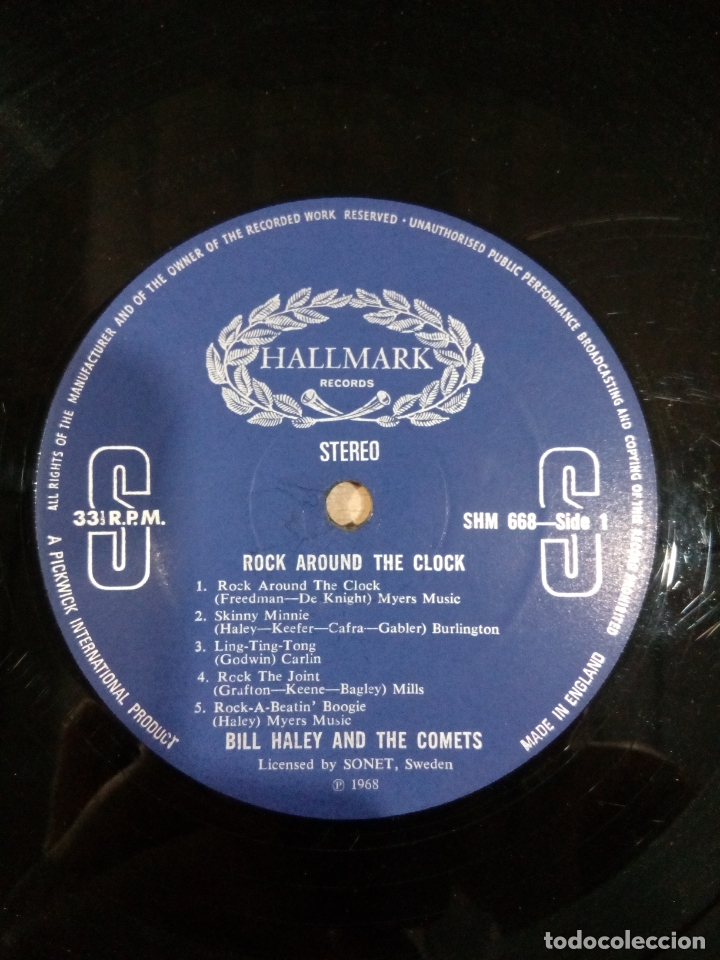 Discos de vinilo: Bill haley and the comets - rock around the clock - buen estado ver fotos - Foto 4 - 173595483