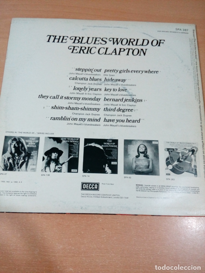Discos de vinilo: The blues world of Eric clapton - buen estado ver fotos - Foto 2 - 173596249