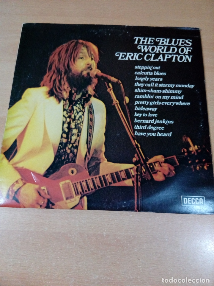 THE BLUES WORLD OF ERIC CLAPTON - BUEN ESTADO VER FOTOS (Música - Discos - LP Vinilo - Rock & Roll)