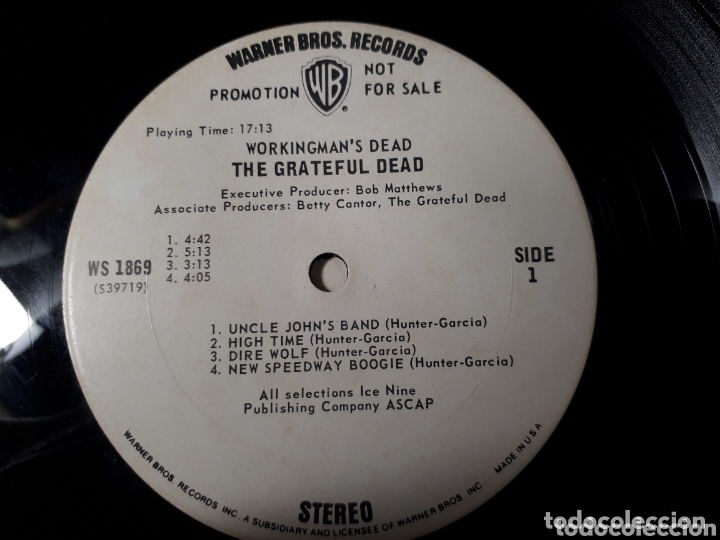 Discos de vinilo: The Grateful Dead Workingmans Dead LP promo Publicado para la radio antes de salir a la venta - Foto 5 - 173607119