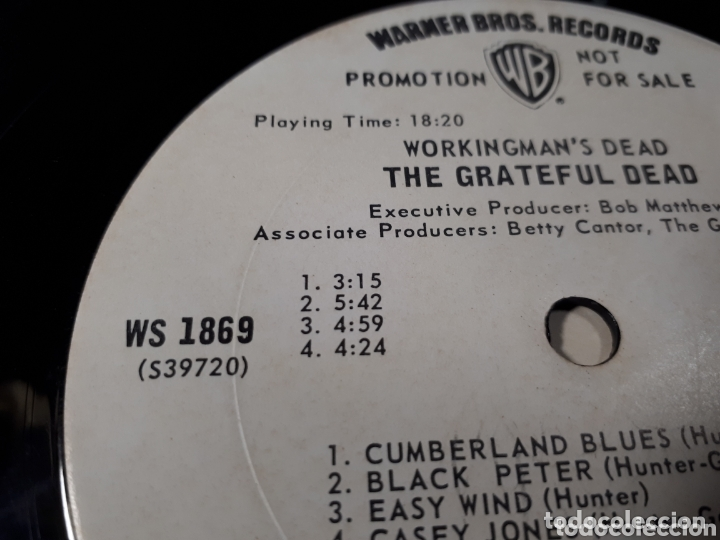Discos de vinilo: The Grateful Dead Workingmans Dead LP promo Publicado para la radio antes de salir a la venta - Foto 7 - 173607119