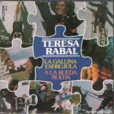 Discos de vinilo: TERESA RABAL / LA GALLINA ESDRUJULA / A LA RUEDA, RUEDA - SINGLE DE 1978 RF-4023 , BUEN ESTADO. Lote 210778626