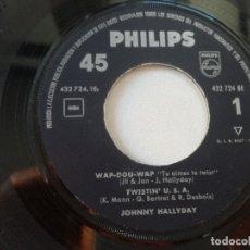 Discos de vinilo: JOHNNY HALLYDAY // LOTES 3 EP ESPAÑOLES SIN PORTADA // VEN A BAILAR TWIST 1963 WAP DU WAP 1963 . Lote 173628513