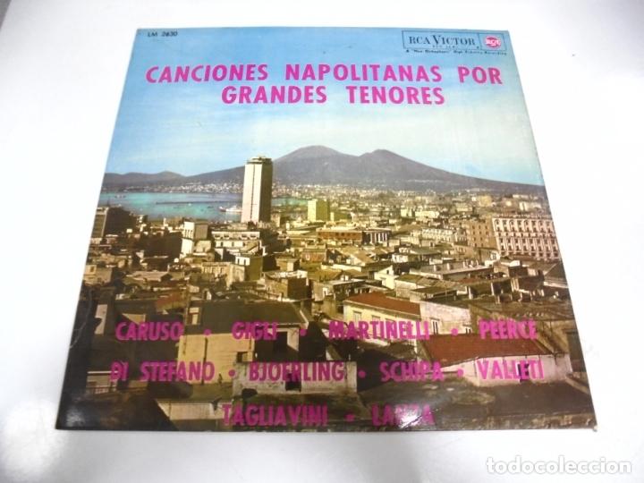 LP. CANCIONES NAPOLITANAS POR GRANDES TENORES. 1964. RCA VICTOR (Música - Discos - LP Vinilo - Étnicas y Músicas del Mundo)