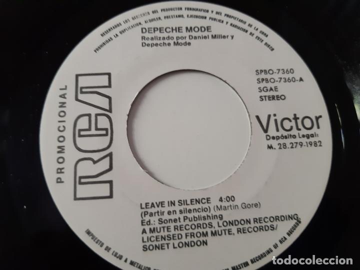 Discos de vinilo: DEPECHE MODE- LEAVE IN SILENCE - SPAIN PROMO SINGLE 1982 - VINILO COMO NUEVO. - Foto 2 - 173635775