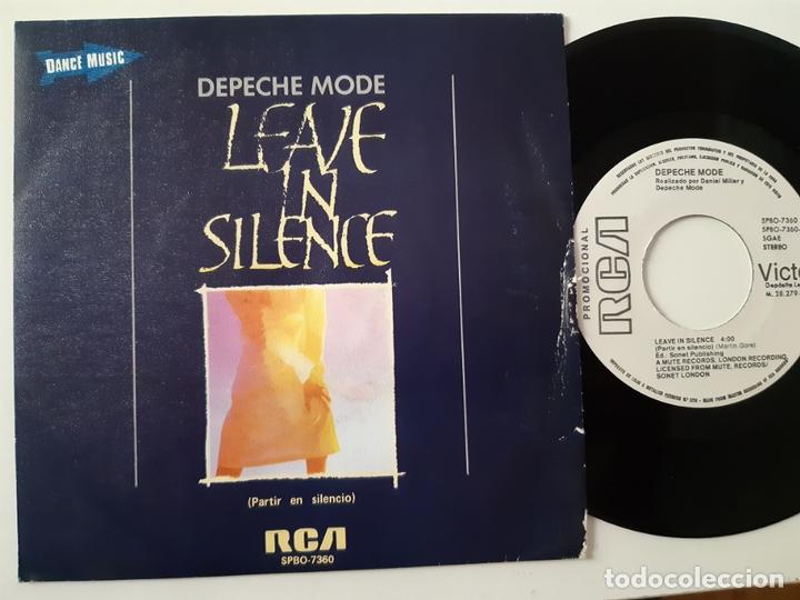DEPECHE MODE- LEAVE IN SILENCE - SPAIN PROMO SINGLE 1982 - VINILO COMO NUEVO. (Música - Discos de Vinilo - Singles - Pop - Rock Internacional de los 80)