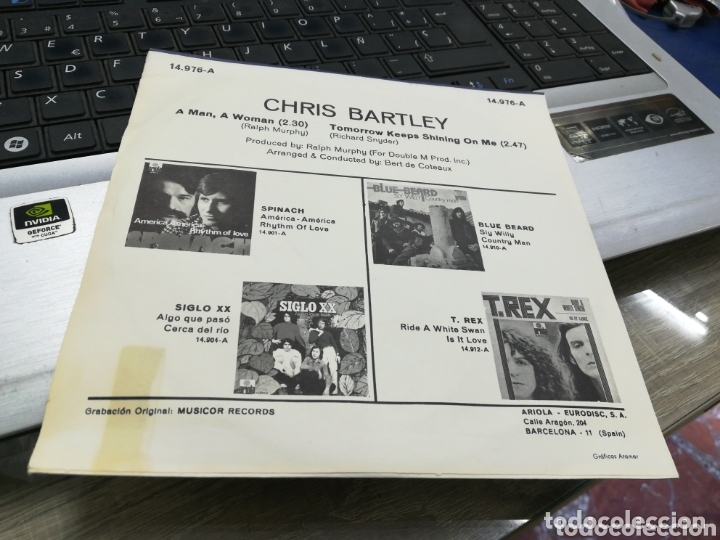 Discos de vinilo: Chris Bartley single a man, a woman españa 1971 - Foto 2 - 173637337