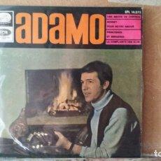 Discos de vinilo: ** ADAMO - UNE MECHE DE CHEVEUX + 3 - EP AÑO 1966 - LEER DESCRIPCIÓN. Lote 173640555