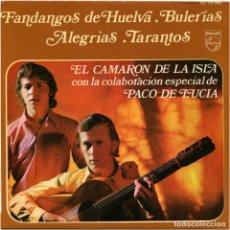 Discos de vinilo: CAMARÓN / PACO DE LUCÍA - FANDANGOS DE HUELVA - EP SPAIN 1970 - PHILIPS 6224005. Lote 173661658