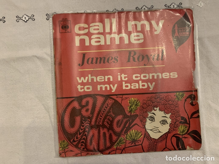 JAMES ROYAL – CALL MY NAME / WHEN IT COMES TO MY BABY SELLO: CBS – 2525 SERIE: SÉRIE GEMINI – FOR (Música - Discos - Singles Vinilo - Funk, Soul y Black Music)