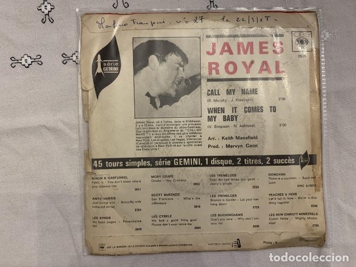 Discos de vinilo: James Royal – Call My Name / When It Comes To My Baby Sello: CBS – 2525 Serie: Série Gemini – For - Foto 2 - 173664040