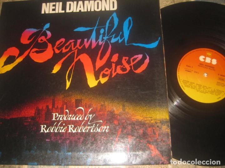 NEIL DIAMOND - BEAUTIFUL NOISE - (CBS- 1976 OG ESPAÑA - DOBLE PORTADA (Música - Discos de Vinilo - EPs - Pop - Rock Extranjero de los 70)