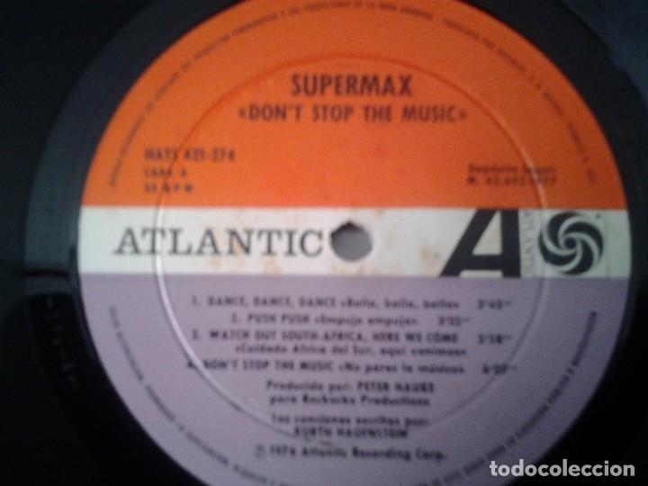 Discos de vinilo: SUPERMAX -DON'T STOP THE MUSIC- LP ATLANTIC 1976 ED. ESPAÑOLA HATS 421-274 MUY BUENAS CONDICIONES. - Foto 2 - 173676080